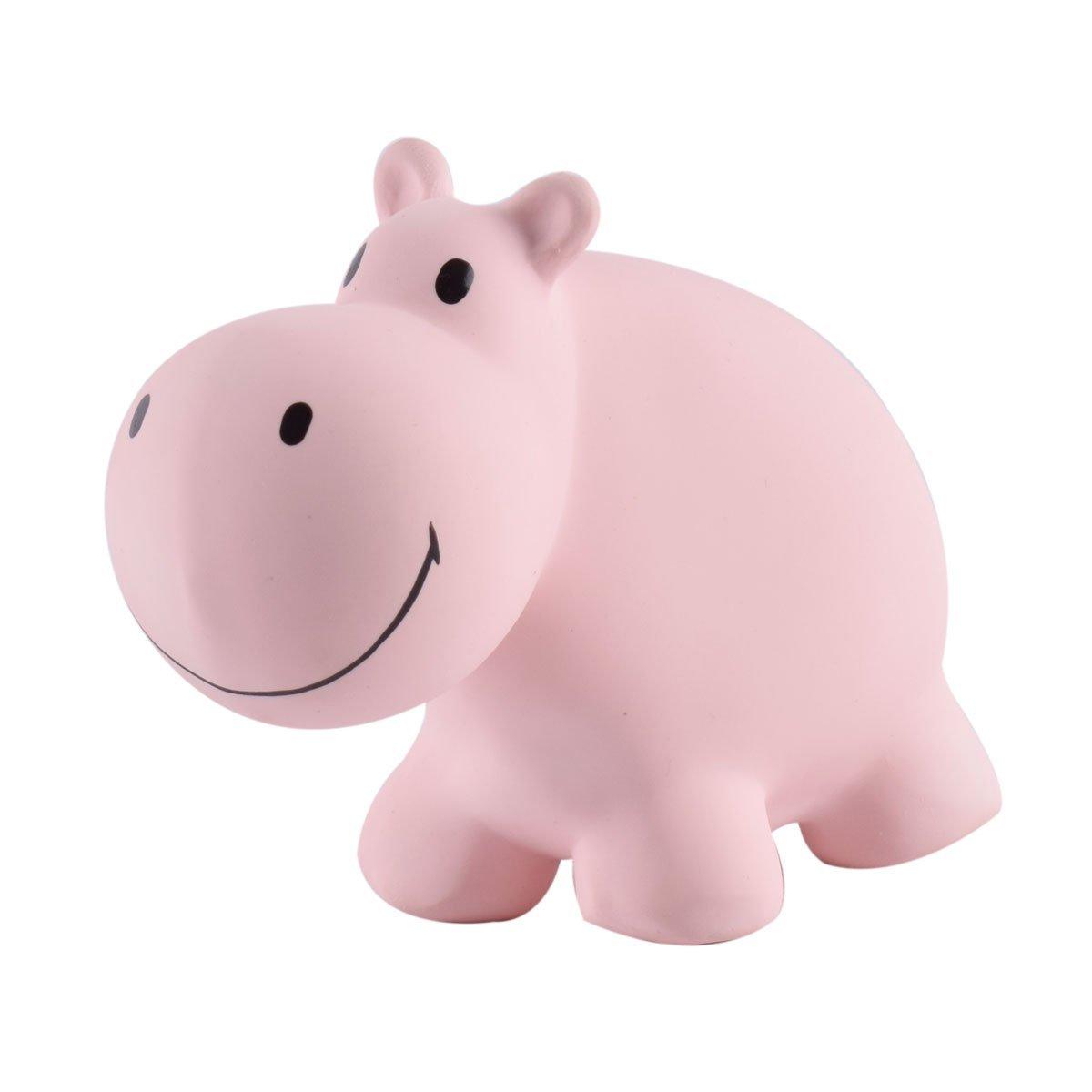 My 1st Tikiri Safari Hippo – Natural Rubber Rattle and Bath Toys